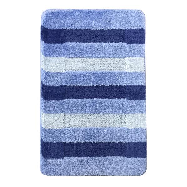 Коврик L'CADESI HIGH MONO из полипропилена на латексной основе, 60x100см, Colorline голубой