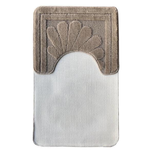 Комплект ковриков L'CADESI NADA из полипропилена на латексной основе, 2 шт. 50x80см и 40x50см, коричневый