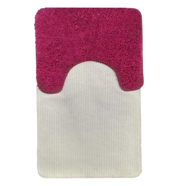 Комплект ковриков L'CADESI FULYA из полипропилена на латексной основе, 2 шт. 50x80см и 40x50см, розовый