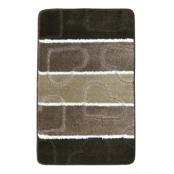 Коврик L'CADESI MULTI из полипропилена на латексной основе, 50x80см, коричневый