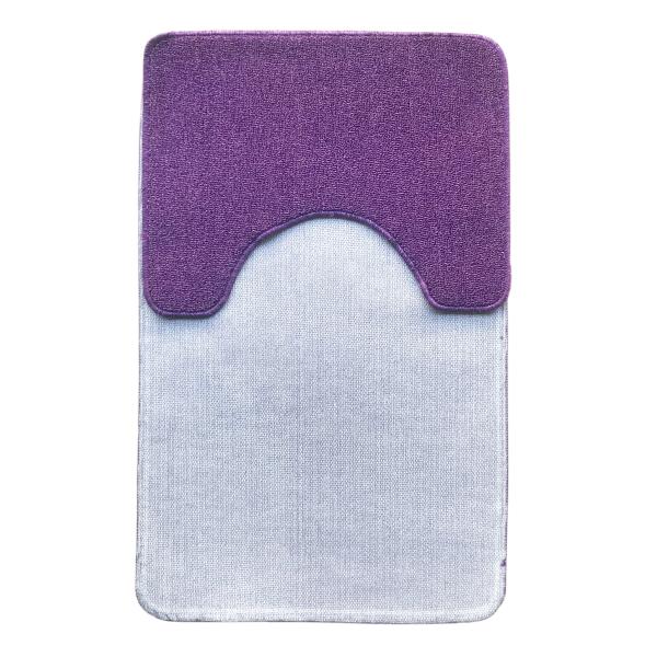 Комплект ковриков L'CADESI ECO LIGHT LATEX, из полипропилена на латексной основе, 2 шт. 60x100см и 50x60см, лиловый