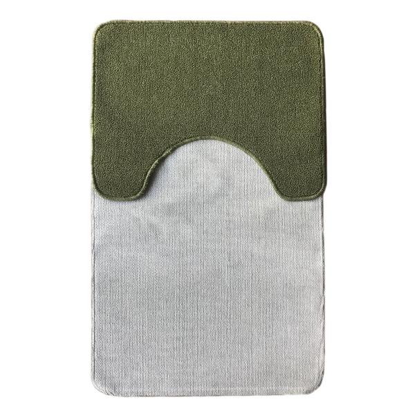 Комплект ковриков L'CADESI ECO LIGHT LATEX, из полипропилена на латексной основе, 2 шт. 50x80см и 40x50см, зелёный