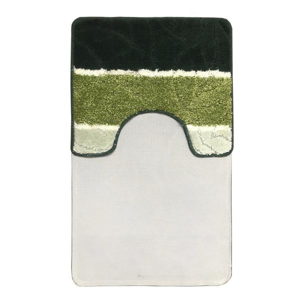 Комплект ковриков L'CADESI MULTI из полипропилена на латексной основе, 2 шт. 50x80см и 40x50см, зелёный