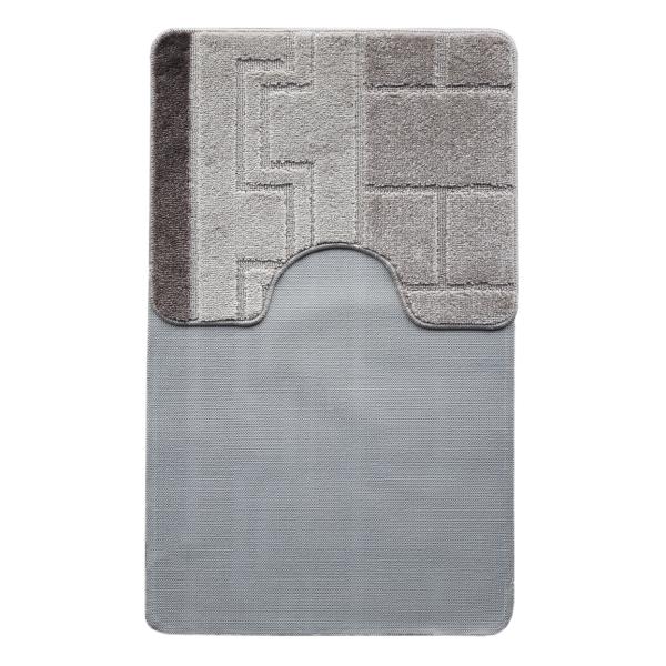 Комплект ковриков L'CADESI MARATHON из полипропилена на латексной основе, 2 шт. 60x100см и 50x60см, Египет серый